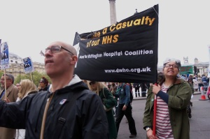 PIC IHOOPS, Defend London NHS, DWHC protest, 13-05-18